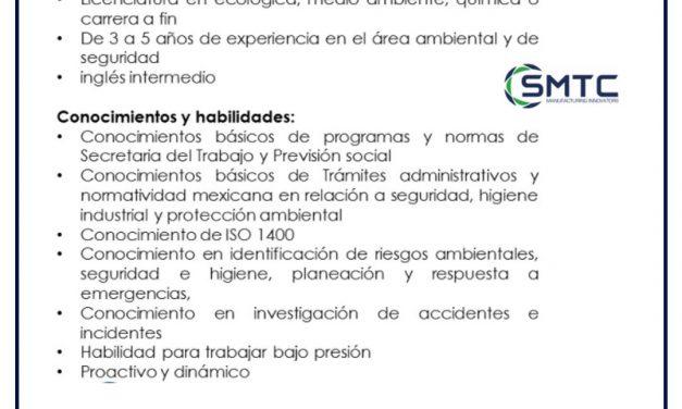 VACANTE SUPERVISOR DE SEGURIDAD Y MEDIO AMBIENTE