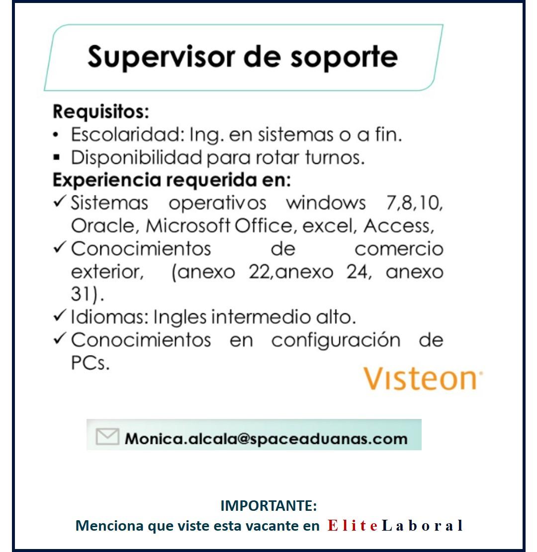 VACANTE SUPERVISOR DE SOPORTE