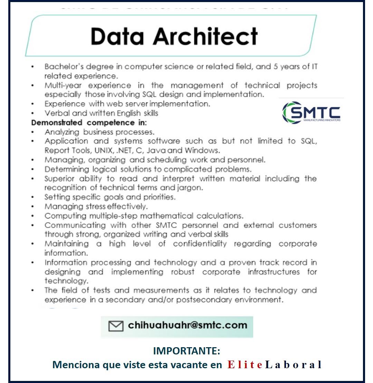 VACANTE DATA ARCHITECT
