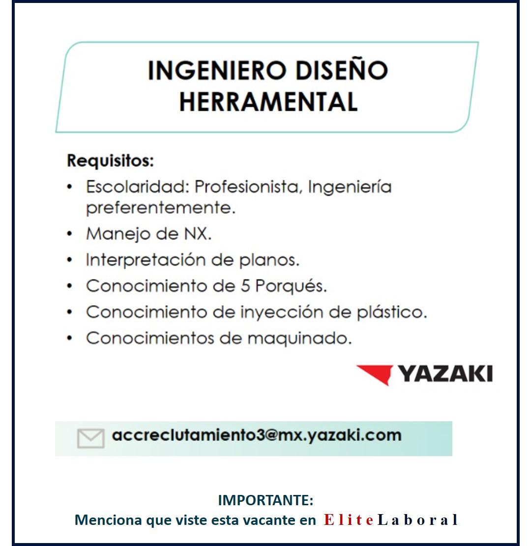 VACANTE INGENIERO DISEÑO HERRAMENTAL