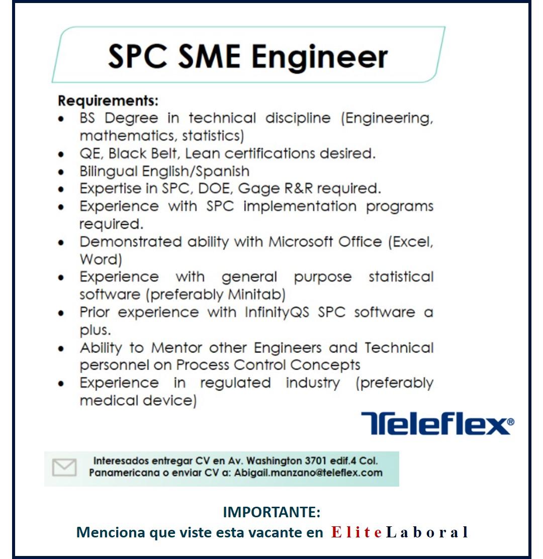 VACANTE SPC SME ENGINEER