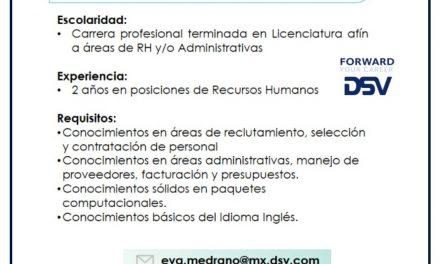 VACANTE COORDINADOR DE RECURSOS HUMANOS