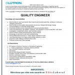 VACANTE QUALITY ENGINEER LUTRON