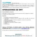 VACANTE OPERADORES DE SMT LUTRON
