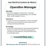 VACANTE OPERATION MANAGER